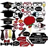 PBPBOX Graduation Photo Booth Props 2017 Graduation Party Decorations 46PCS