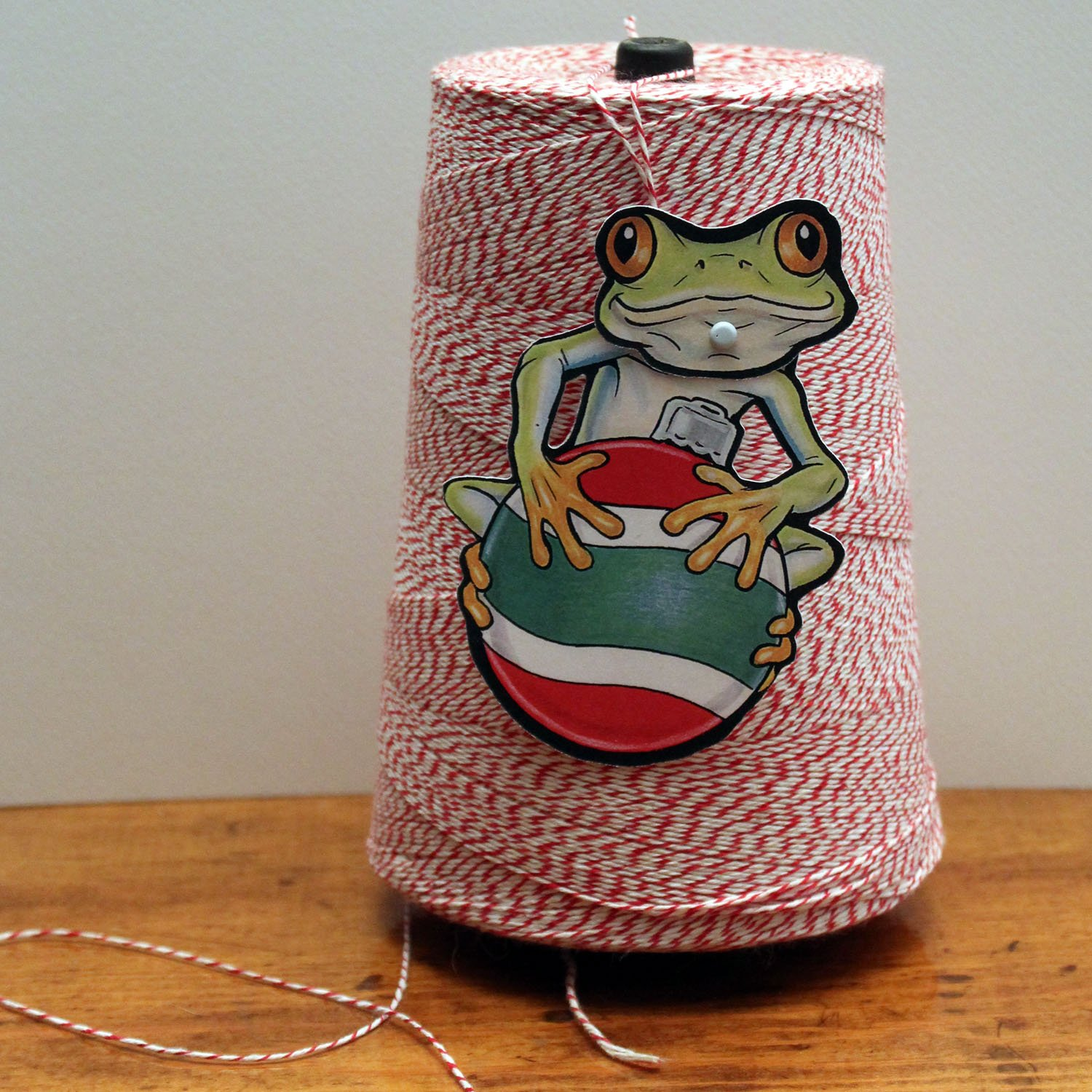 Tree Frog Jointed Gift Tag or Christmas Ornament Mini Rainforest Animal Paper Doll