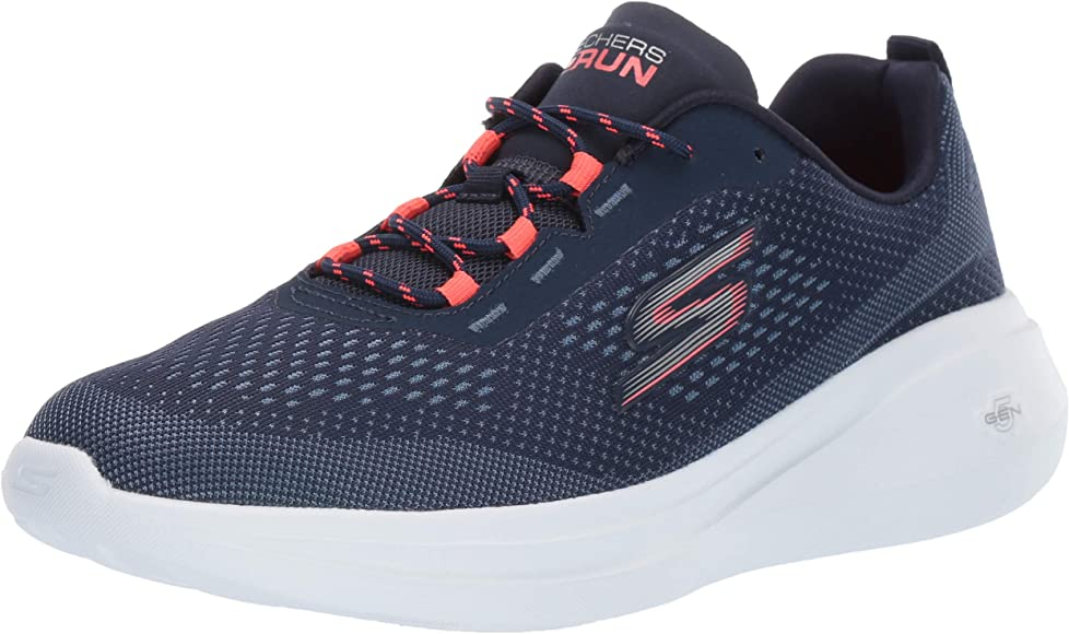 Skechers Go Run Fast, Sneaker Donna, Navy Textile/Coral Trim Nvcl ...