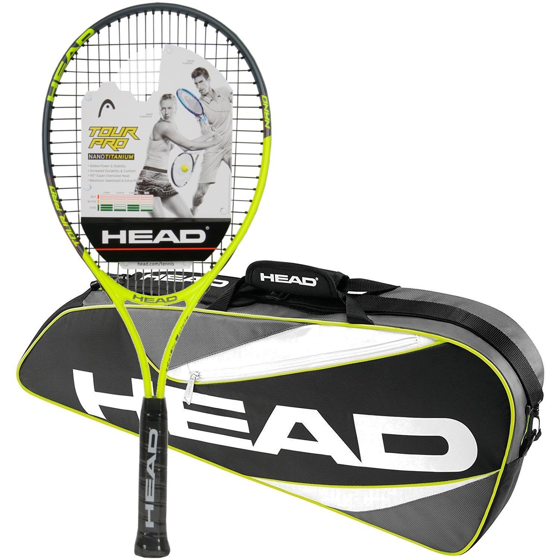 Head Tour Pro pre-strung raqueta de tenis con un paquete de una ...