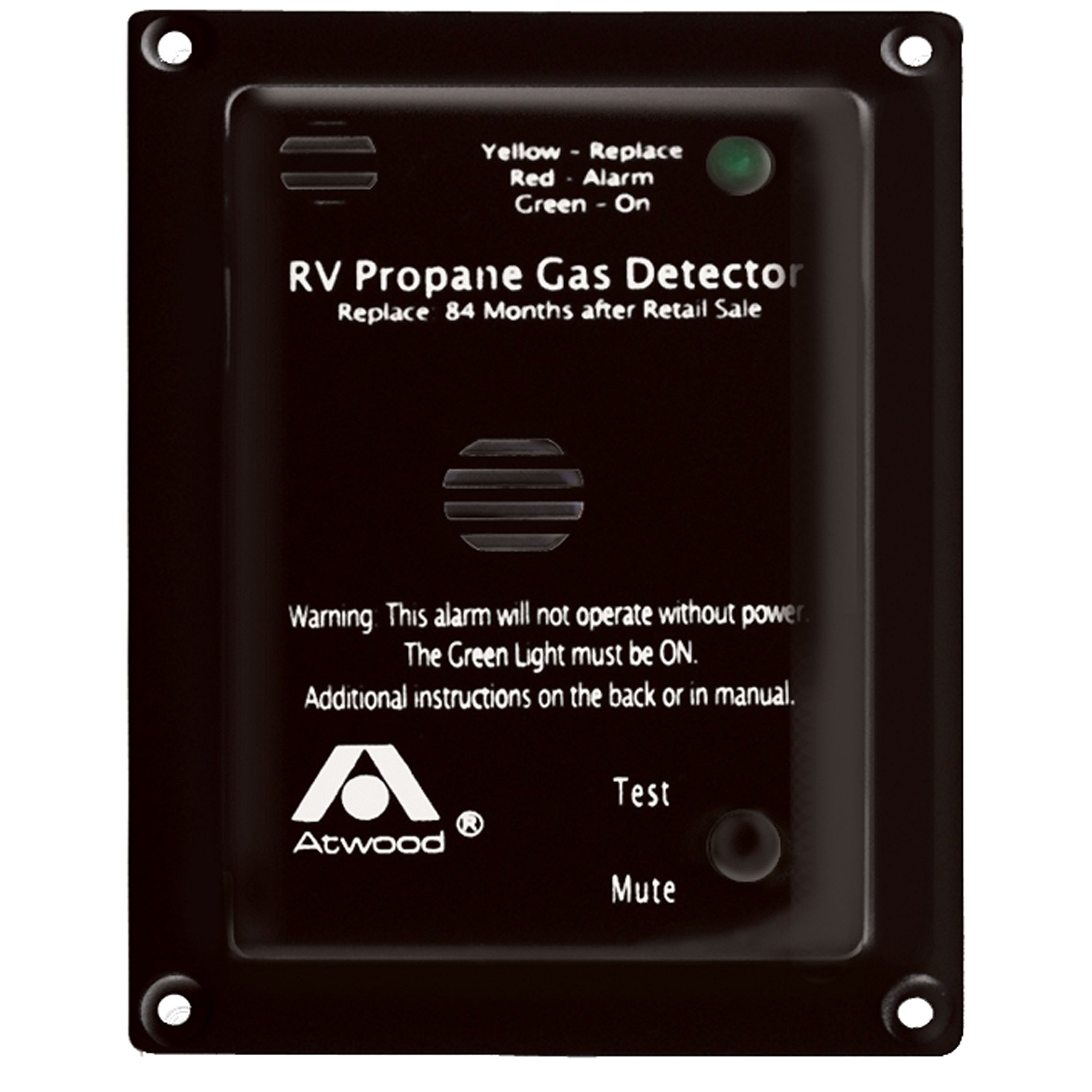Atwood 31014 RV Propane Gas Detector-12V DC, Black by Atwood