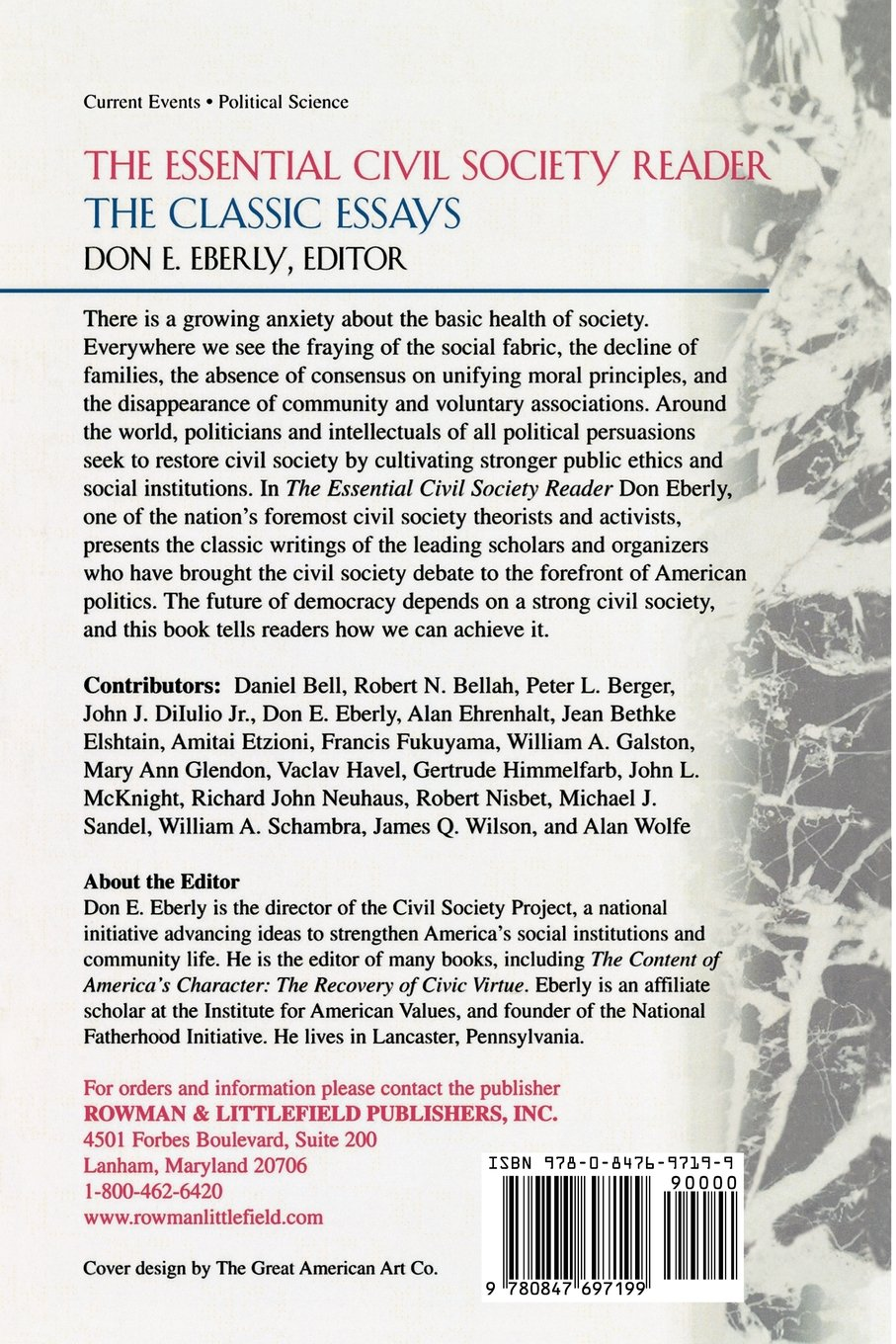 the essential civil society reader the classic essays don e the essential civil society reader the classic essays don e eberly daniel bell robert bellah peter berger john dilulio allan ehrenhalt