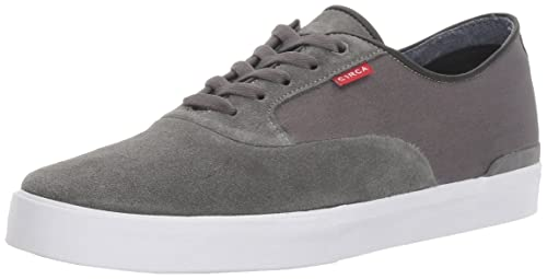 C1RCA Men's Kingsley Low Durable Cushioned Insole Skate Skateboarding Shoe,  Charcoal/White, 7