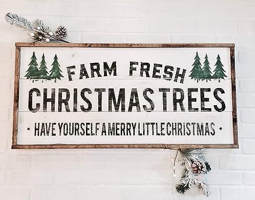 Unknow Farm - Cartel de Madera, diseño de árboles de Navidad ...