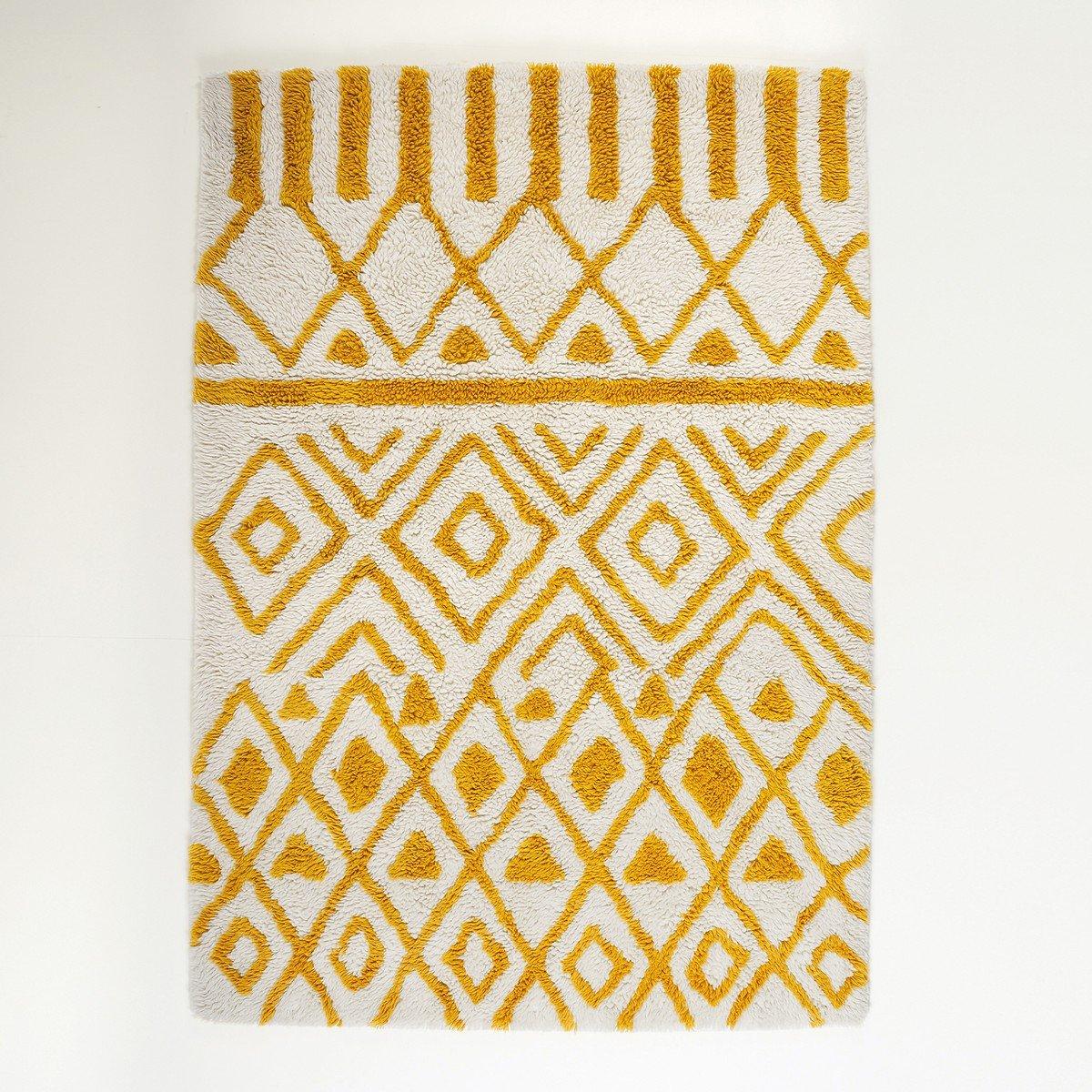 2ac0b63aa4 La Redoute Interieurs Ocrul Berber Style Wool Rug  Amazon.co.uk  Kitchen    Home