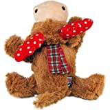 KONG - Holiday Cozie Reindeer - Indoor Cuddle Squeaky Plush Dog Toy - for Medium Dogs