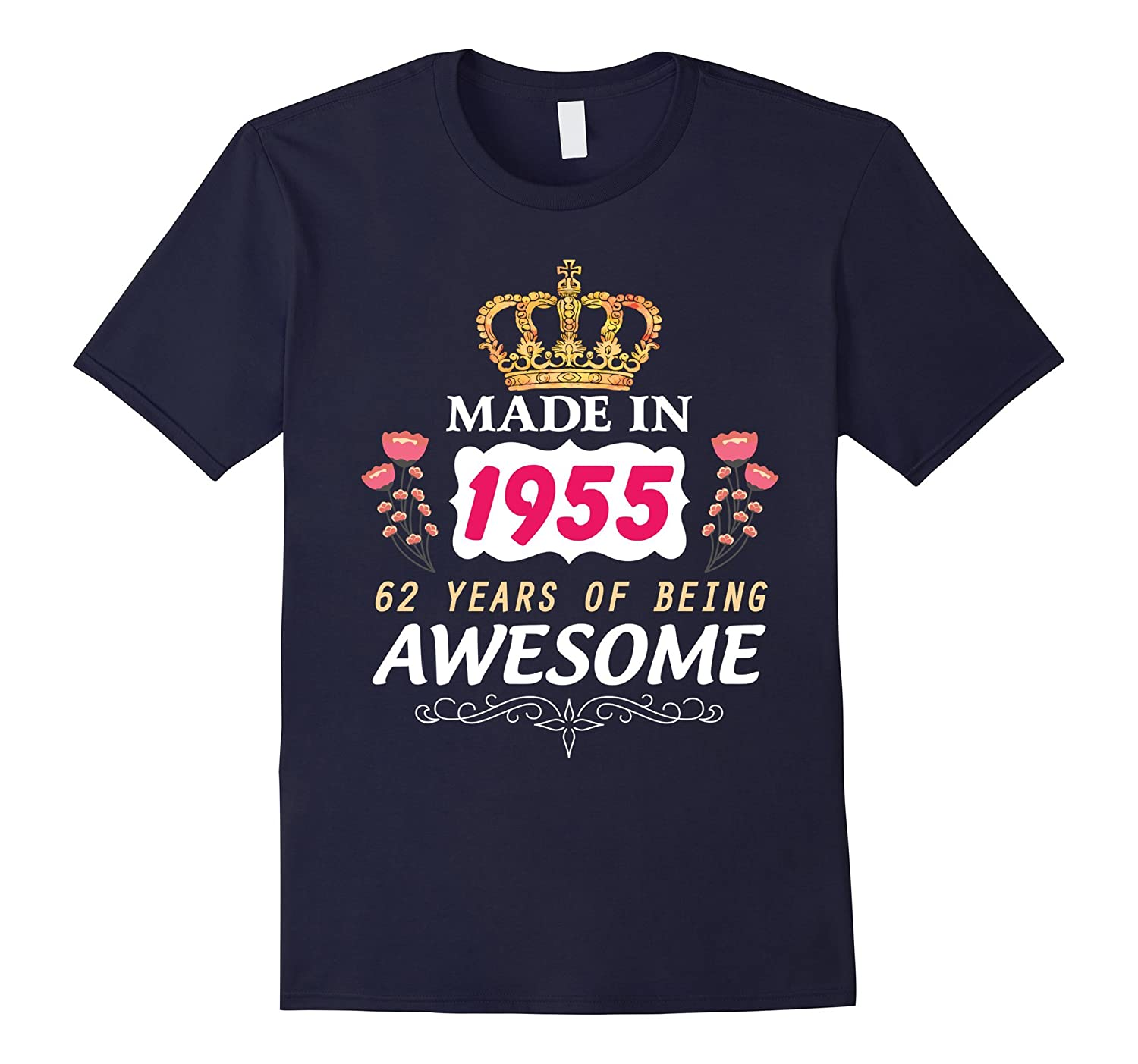 62 Years Old Birthday Queen Princess Crown T-Shirt Gift-PL