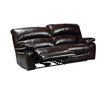 Phenomenal Ashley Furniture Signature Design Damacio Recliner Sofa Power Reclining Dark Brown Home Interior And Landscaping Elinuenasavecom