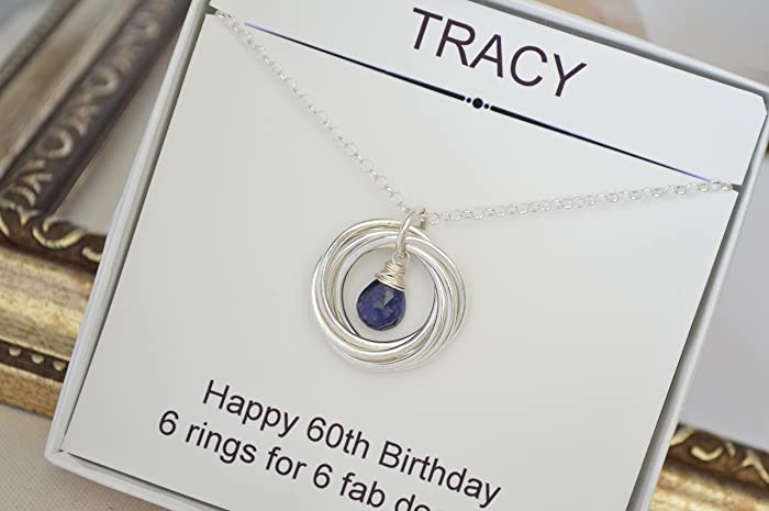 Mom Jewelry 60th Birthday Gift For Wife Blue