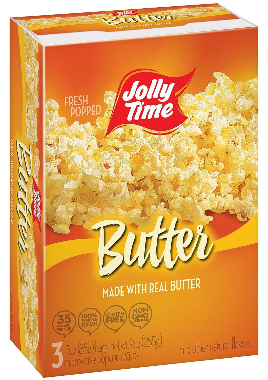 Jolly Time, Palomita para microonda - 6 de 300 gr. (Total 1800 gr.): Amazon.es: Alimentación y bebidas