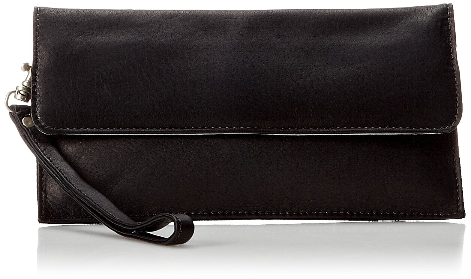 Piel Leather Travel Wallet, Black, One Size by Piel Leather