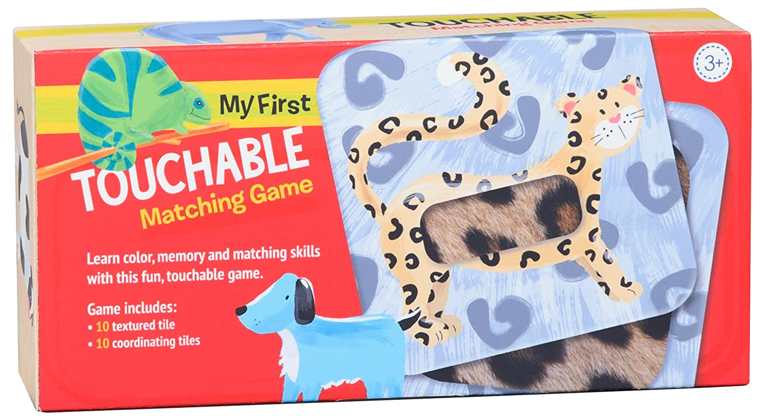 C.R. Gibson Memory and Texture Educational Animal Matching Game for Kids BGM-18498