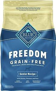 Blue Buffalo Freedom Grain Free Natural Senior Dry Dog Food Chicken 4-lb