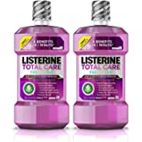 Listerine Total Care Anticavity Mouthwash, 6 Benefit Fluoride Mouthwash for Bad Breath and Enamel Strength, Fresh Mint Flavor