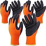3 Pairs Heat Resistant Gloves for Heat Transfer Printing 3D Vaccum Heat Transfer Machine Gloves Work gloves, Orange and Black