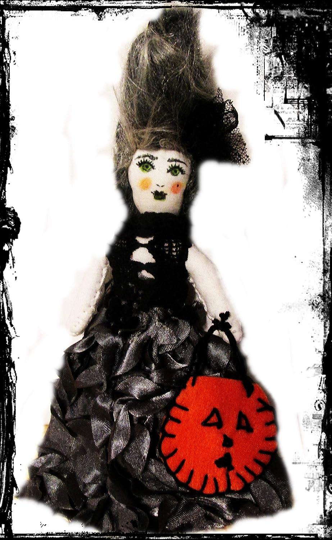 Bride of Frankenstein Handmade Halloween Dolls Halloween Doll