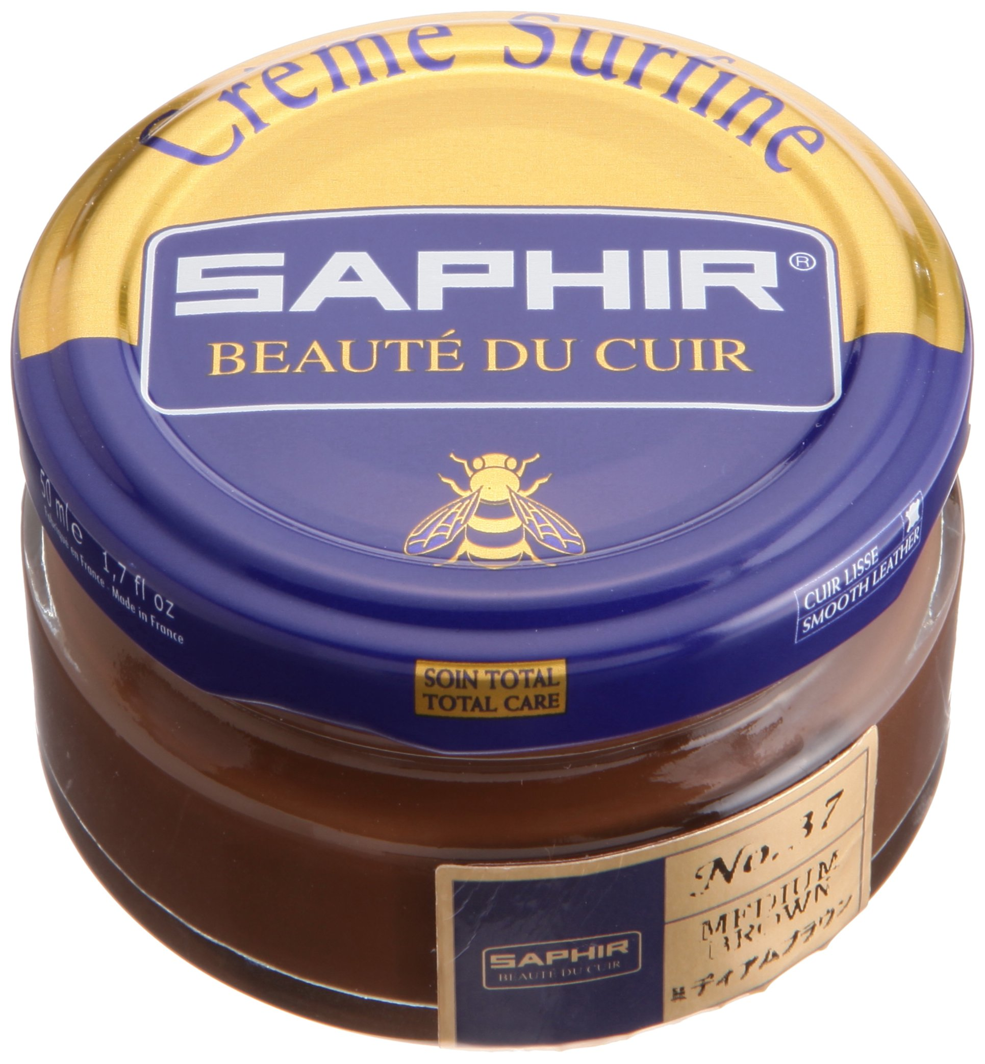 Saphir Shoe Cream 50ml Jar Medium Brown