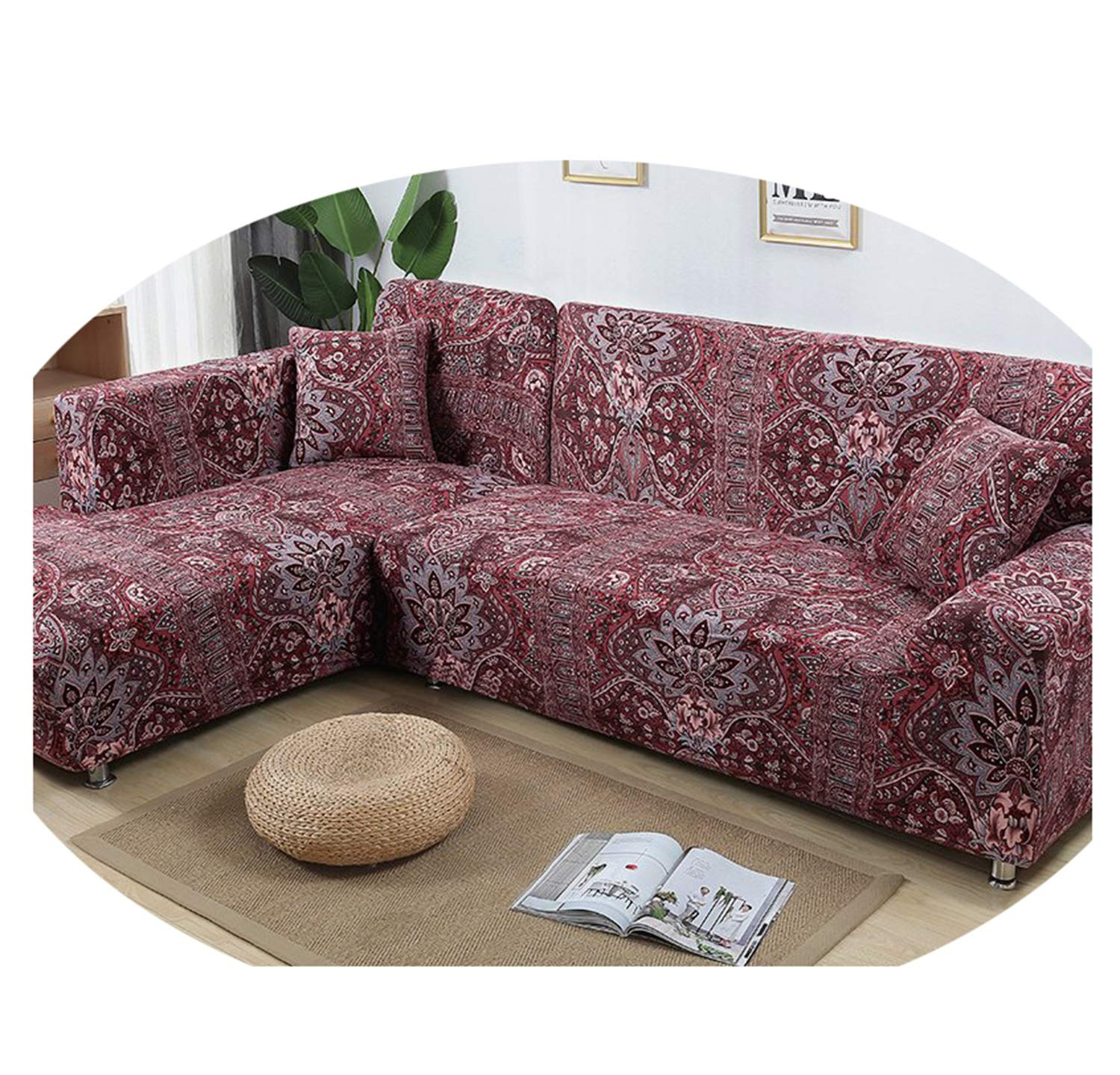 Astonishing Amazon Com 2 Pieces Cover For L Shaped Sofa Sectional Couch Ocoug Best Dining Table And Chair Ideas Images Ocougorg