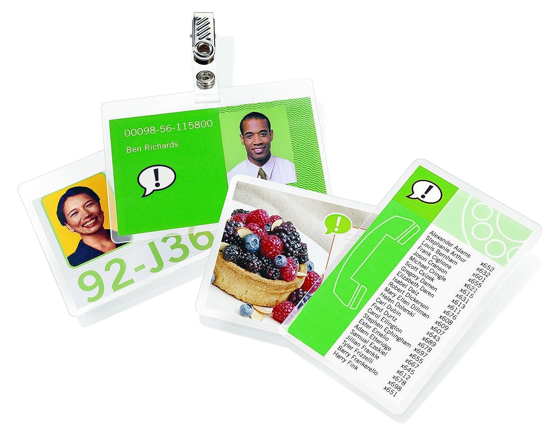 GBC 3740303 75 x 105 mm 2 x 125 Micron Gloss Card Laminating Pouches Pack of 100