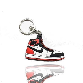 ProProCo Sneaker Schlüsselanhänger Jordan Bred 1s OG Air Jordan Air Max Schlüsselanhänger Fashion für Sneakerheads,hypebeasts und alle Keyholder