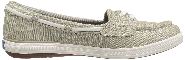 Keds Women's Glimmer Brushed B(M) Linen Fashion Sneaker B01LXP7MNQ 6.5 B(M) Brushed US|Natural/Silver 20af70