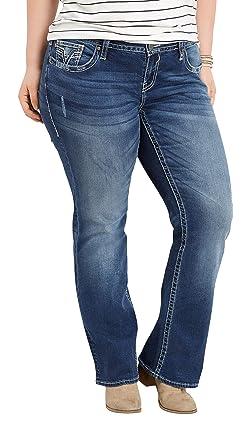 32d1863397d maurices Women s Plus Size Vigoss Dark Wash Slim Boot Jean 14 Dark Sandblast