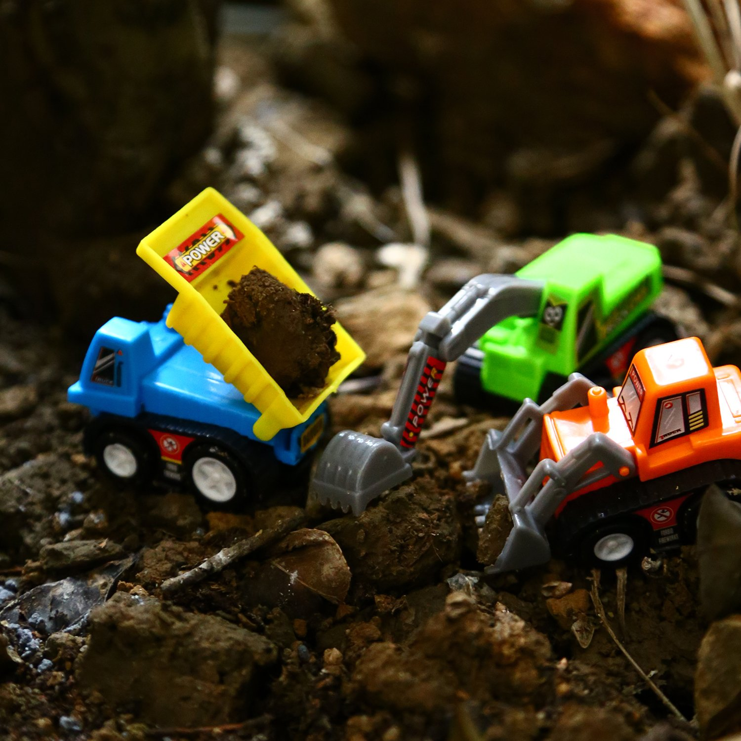 Amazon.com: Pull Back Vehicles, 12 Pack Mini Assorted Construction ...