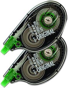 "Tombow 68627 MONO Correction Tape, Non-Refillable, 1/6"" x 394"", White Tape (Pack of 2)"