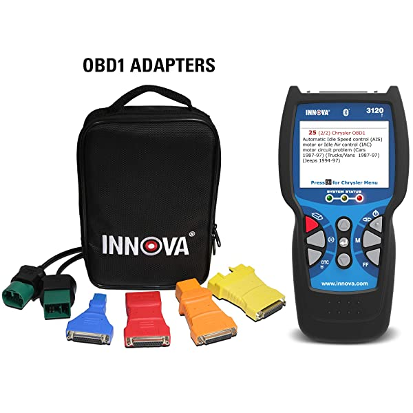 Innova 3120 reads and clears trouble codes for your engine, transmission, and emissions systems.