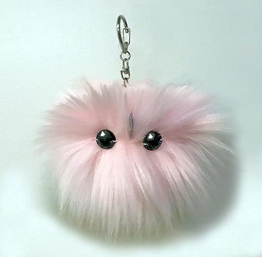 2ffe8bd17760 Amazon.com: Pom Pom Purse Charm Keychain Bag Accessory Pink Plushie ...