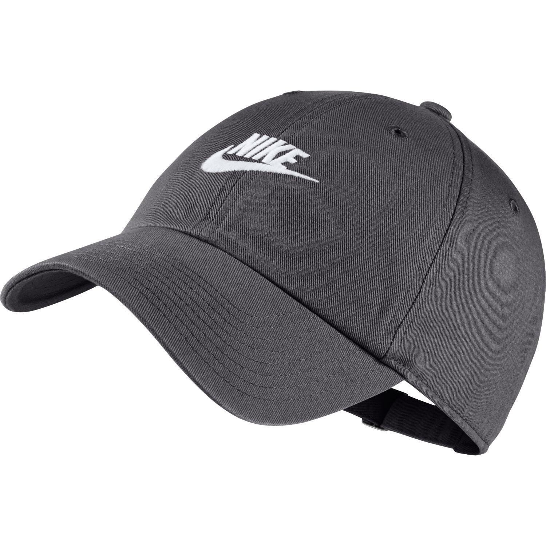 NIKE Unisex H86 Futura Washed Hat Gunsmoke Grey/White 913011-036