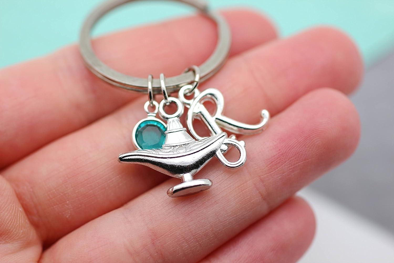 Personalised Letter//Alphabet /& Blue Dolphin Keyring Birthday Gift