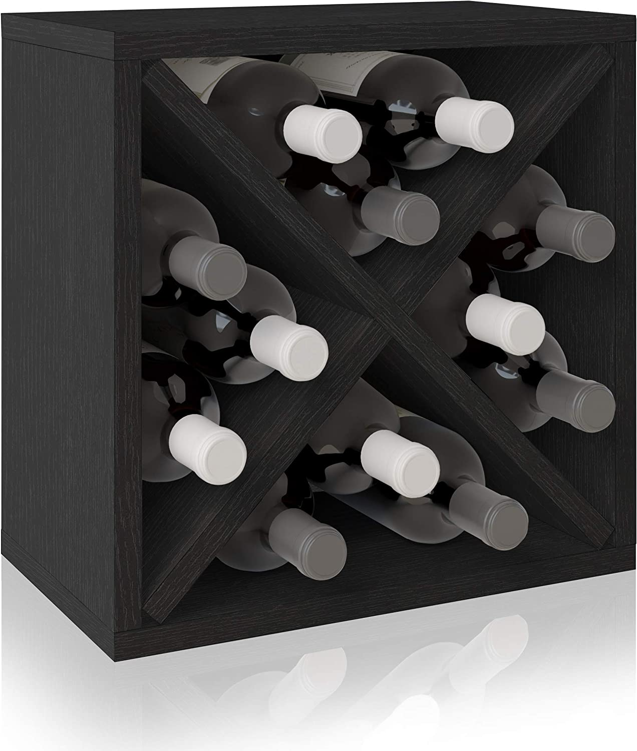 Handmade Wooden 7 Column 105 Bottle Display Row Wine Cellar Kit in Premium Redwood 13 Stain Combinations to Choose From!