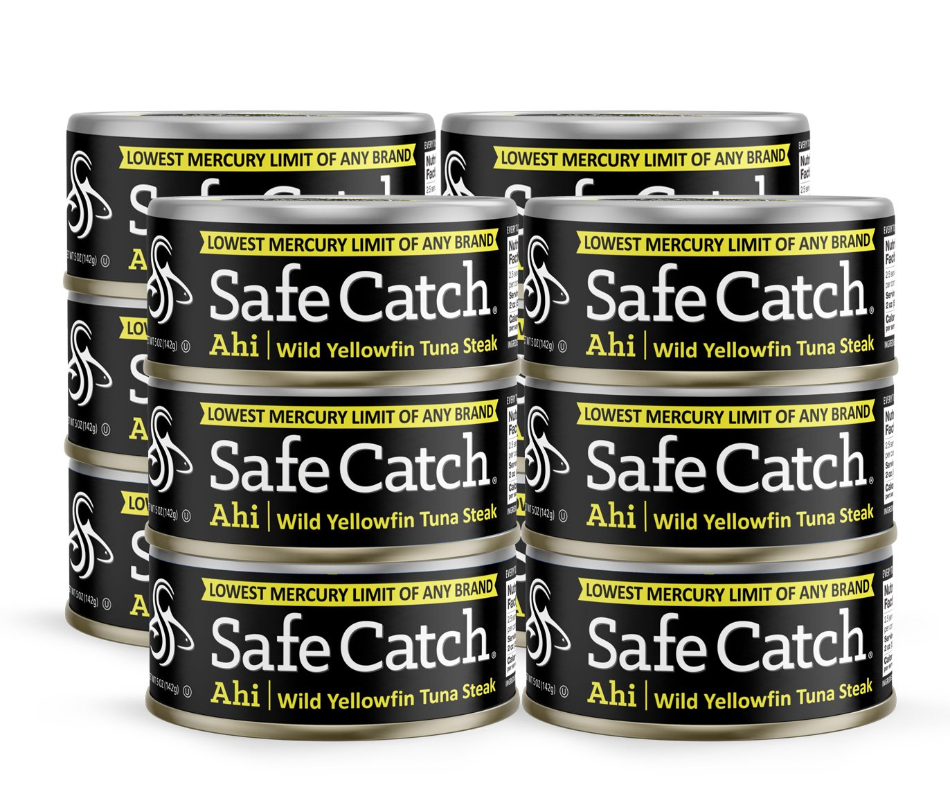 Safe Catch Ahi, Lowest Mercury Solid Wild Yellowfin Tuna Steak, 5 oz Can. The Only Brand to Test Every Tuna for Mercury (Pack of 12) by Safe Catch (Image #5)