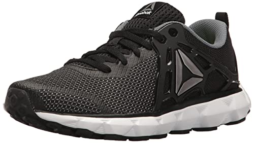Reebok Women s Hexaffect Run 5.0 MTM Black Asteroid Dust Pewter White  Athletic Shoe 9273c0adb