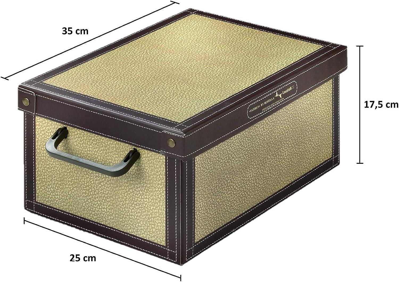 Kanguru Caja de Almacenamiento en cartòn Lavatelli, Modelo TAPIRUS, Pequeña 25x35x17, PEQUEÑA25x35x17,5cm: Amazon.es: Hogar