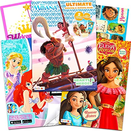- Amazon.com: Disney Moana Coloring And Sticker Book Super Set -- Bundle  Includes 3 Disney Coloring Books With Stickers (Party Set): Toys & Games
