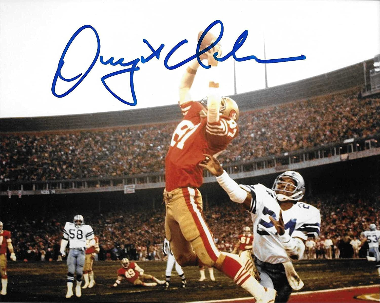 Dwight Clark, San Francisco 49ers, The Catch, Signed, Autographed, 8x10  Photo, a Coa with the Proof Photo of Dwight Signing Will Be Included- at  Amazon's ...