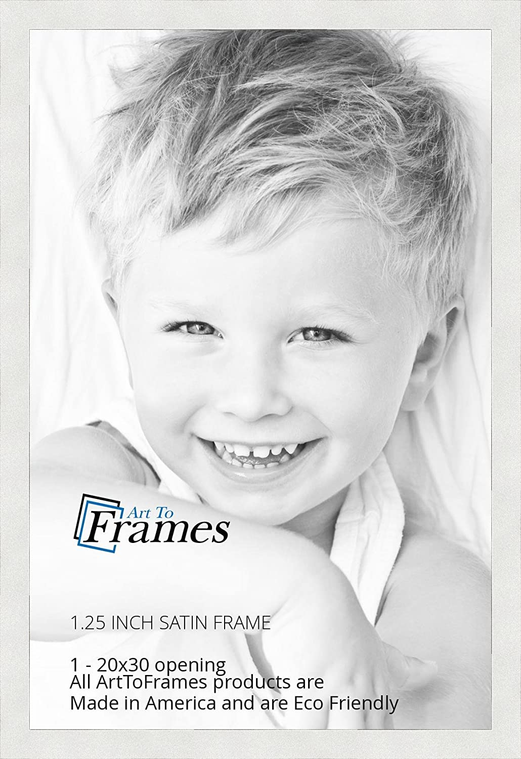 Amazon.com - ArtToFrames 20x30 inch Satin White Frame Picture Frame ...