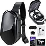 Oculus Quest 2 Case SARLAR Hard Chest Shoulder Backpack for Carrying Basic and Elite Version VR Gaming Headset and Touch Cont