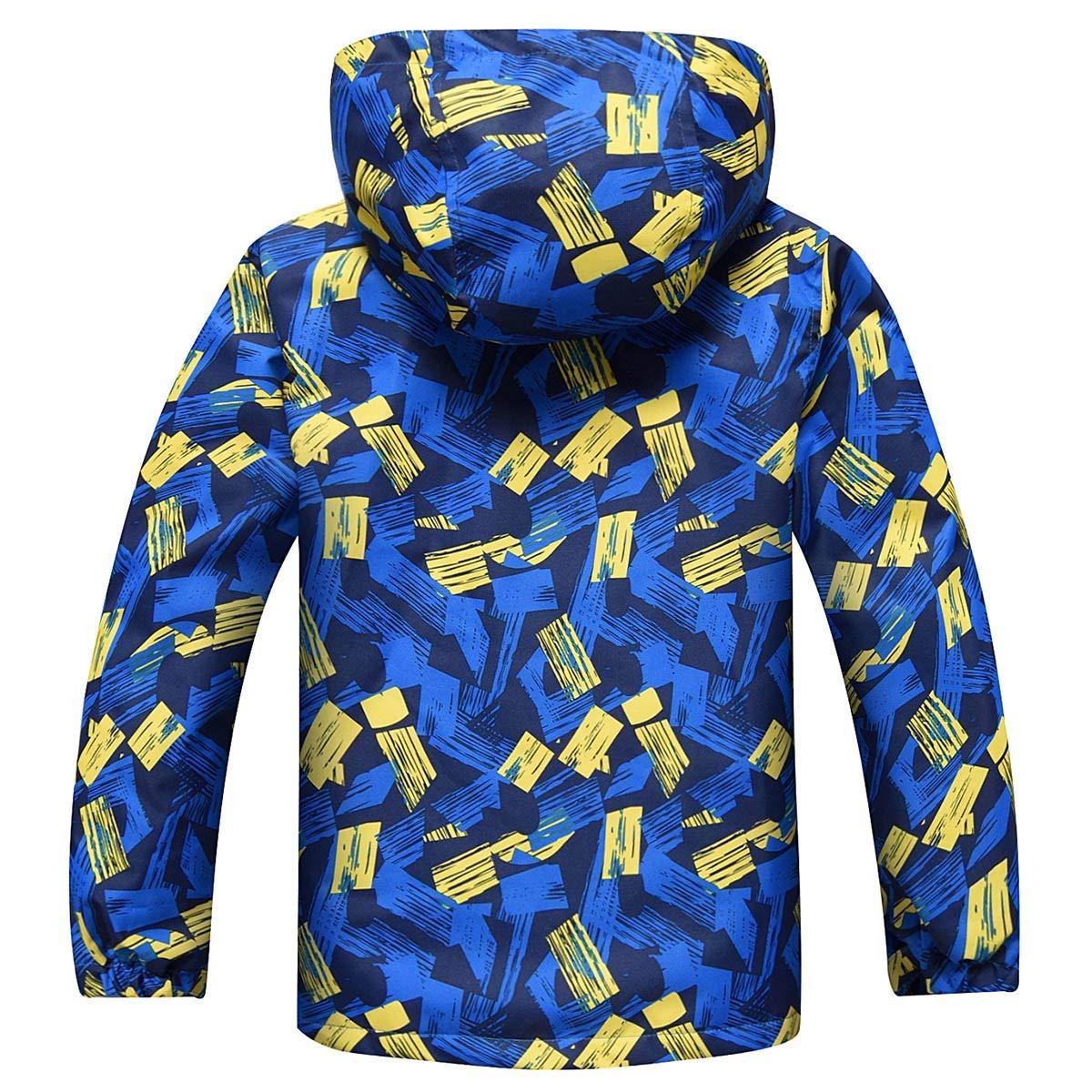 HUTUHU Latest Boys Fleece Hooded Jacket Warm Quilted Coat Outdoor Jacket