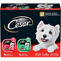 Cesar Entrées Food Trays for Dogs - Beef - Turkey - 100g (12 Pack)