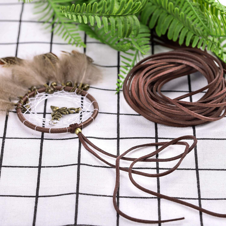 Whaline 3 Piezas 3 mm de Cord/ón de Ante Falso 3 Colores Cuerda de Cuero para Bricolaje Pulsera Abalorios Fabricaci/ón de Bisuter/ía