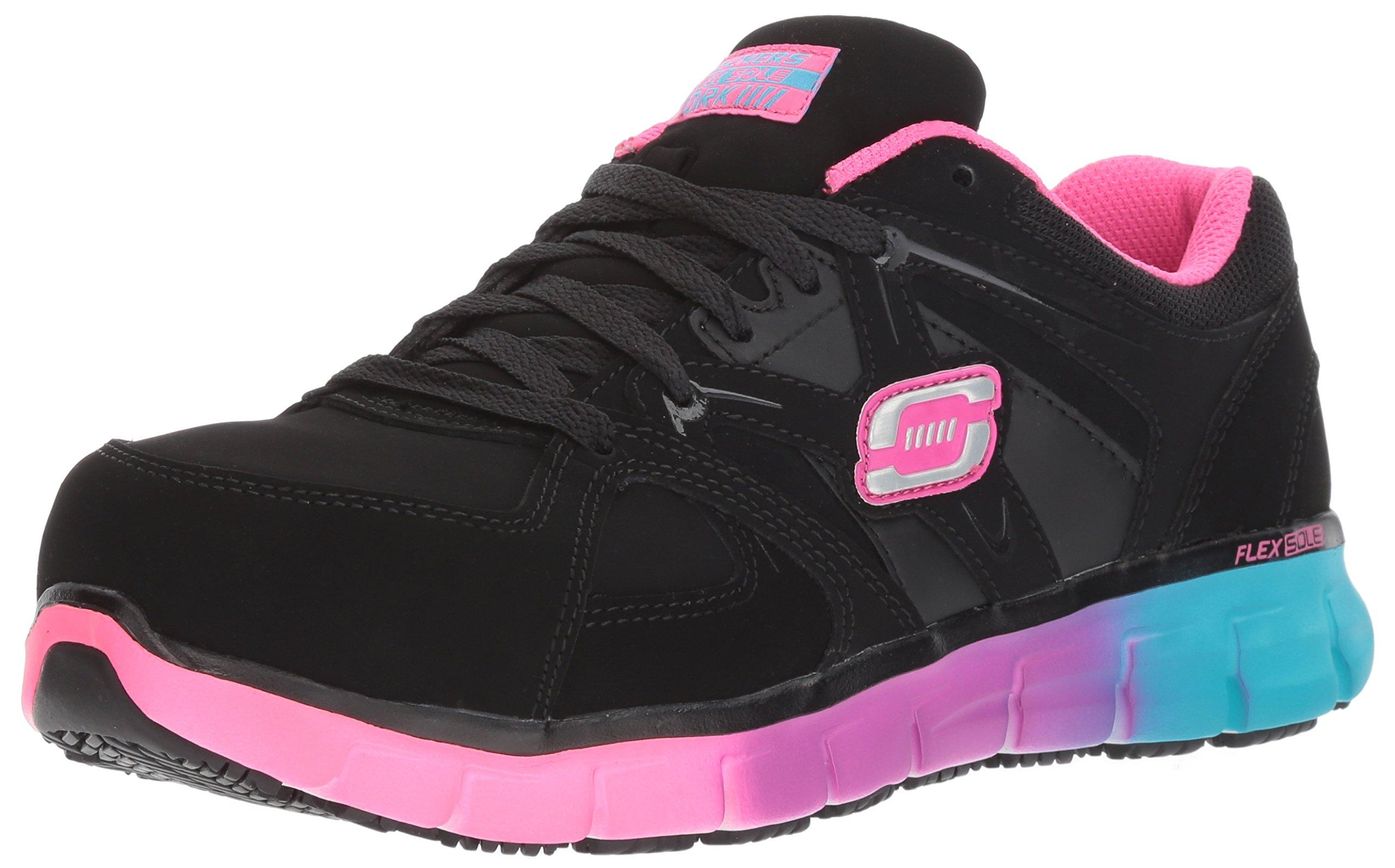Skechers for Work Women's Synergy-Sandlot Work Boot,Black/Multi,8 M US