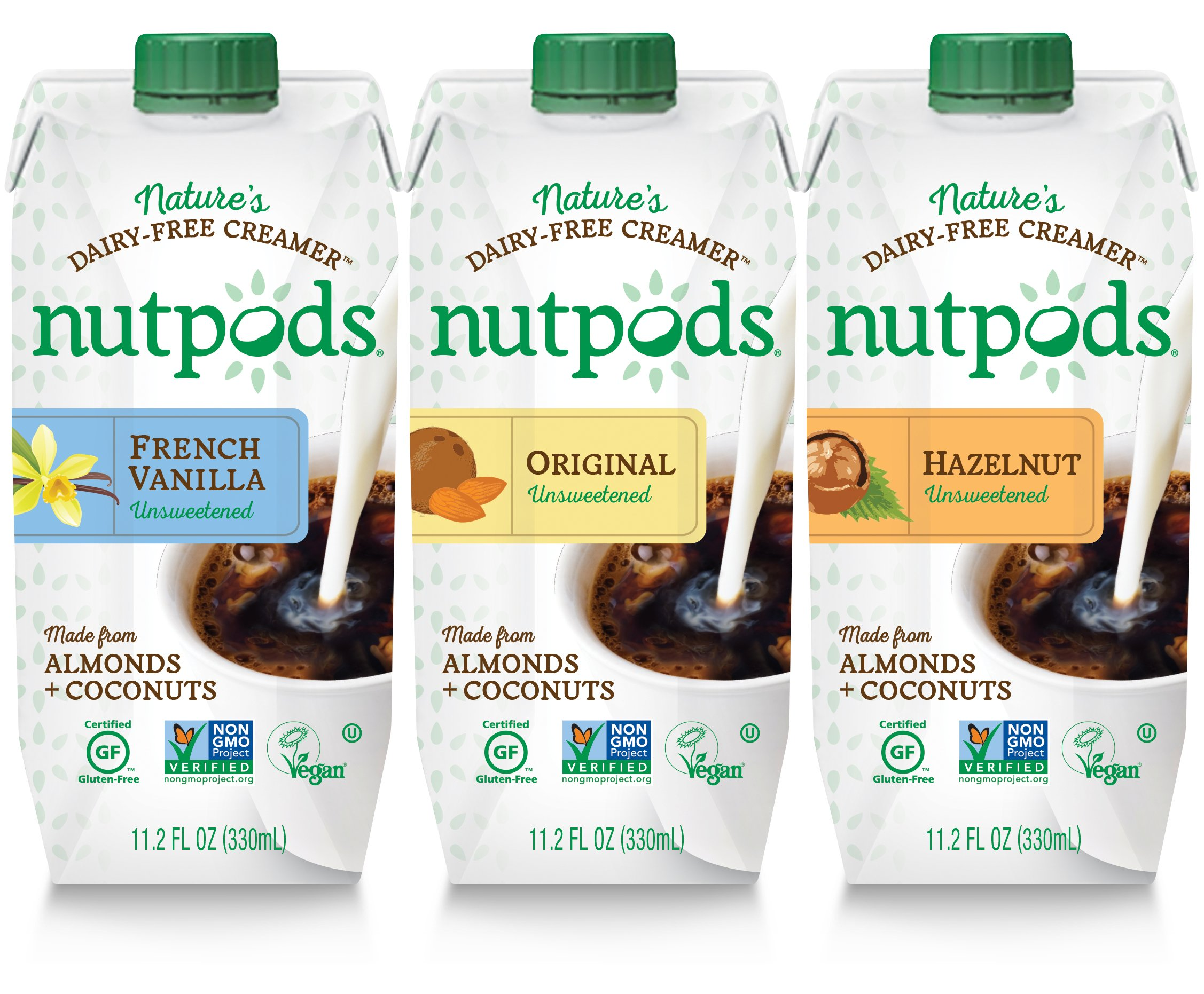 Nutpods Unsweetened Dairy-Free Creamer (Variety Pack 3-Pack) Variety Pack 6