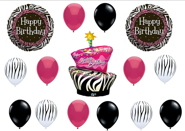 Amazoncom Zebra Stripe Cake Birthday Party Balloons Decorations