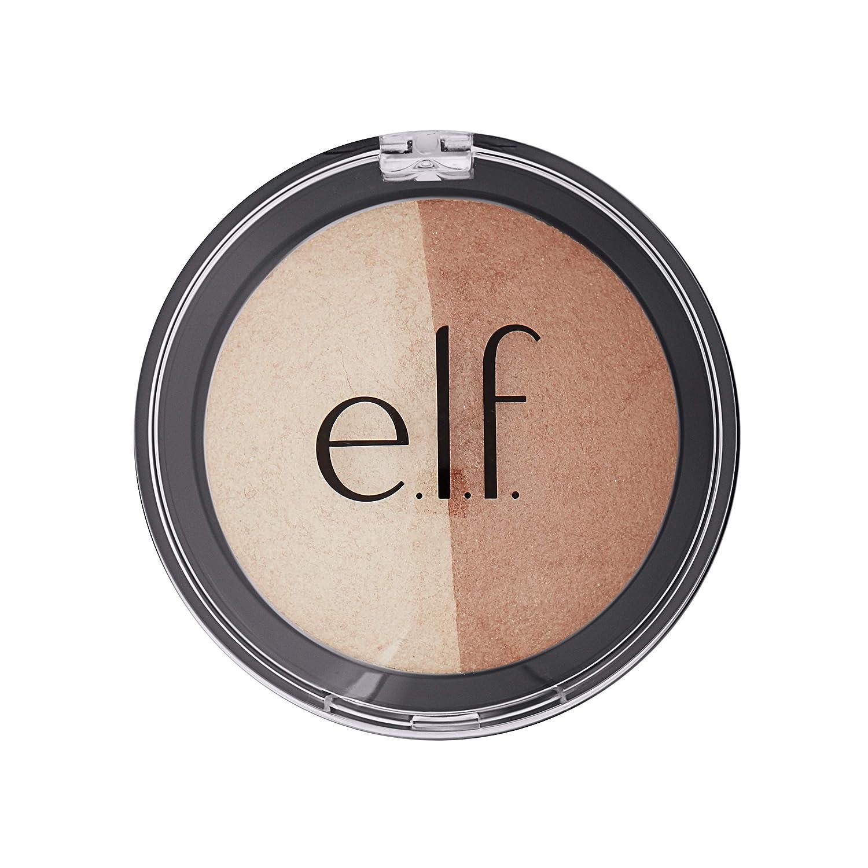 Elf Cosmetics Baked Highlighter & Bronzer 83372 Bronzed Glow, 0.6 Ounce