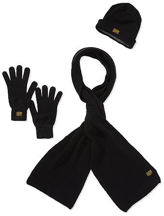 009eca768f5d1 G-Star - Ensembles de bonnet, écharpe et gants - Homme - Noir (Black ...