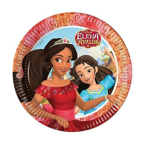 Disney 8 platos * Elena de avalor fiestas de cumpleaños ...