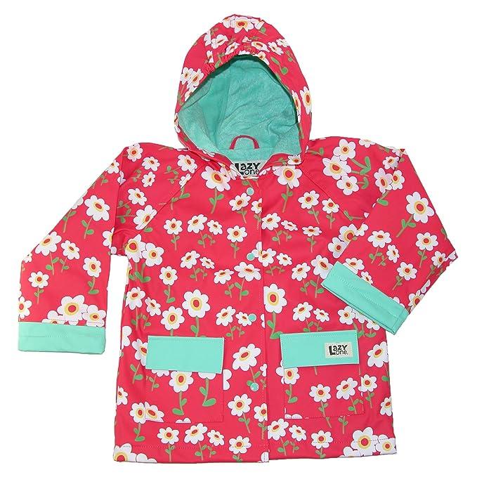 LazyOne Niñas Rise and Shine Rain Coat Niño 3 Años